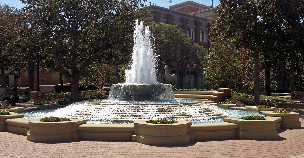 University of Southern California Fountain Engineered by Aquatic Creations, Inc.